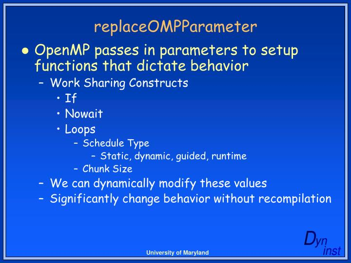 replaceOMPParameter