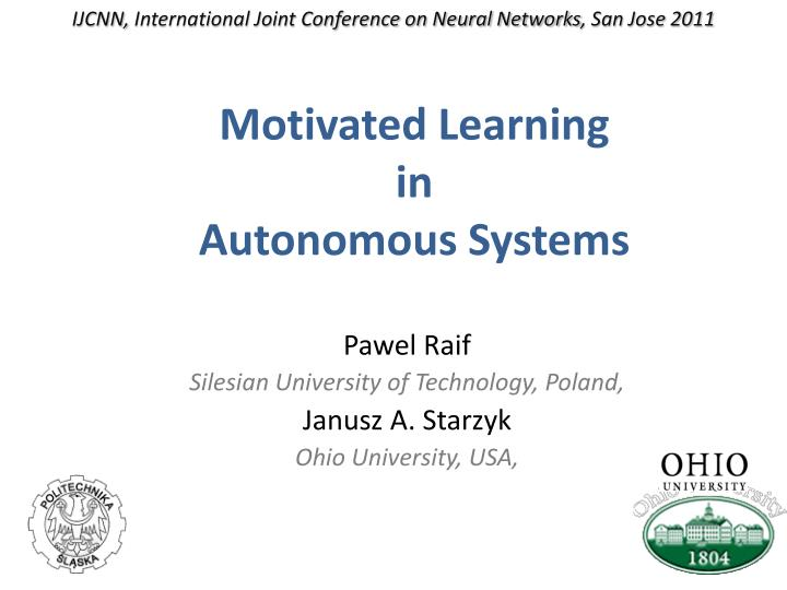 Ijcnn international joint conference on neural networks san jose 2011