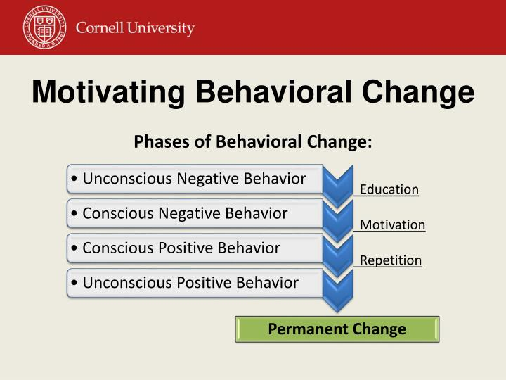Motivating Behavioral Change