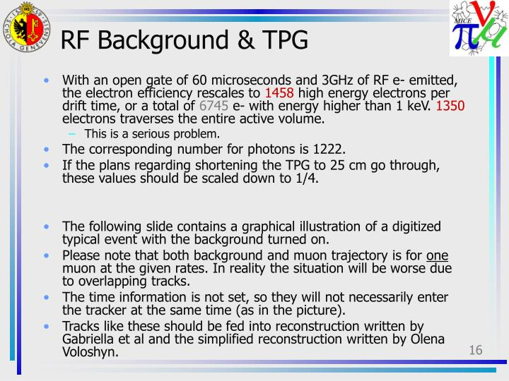 RF Background & TPG