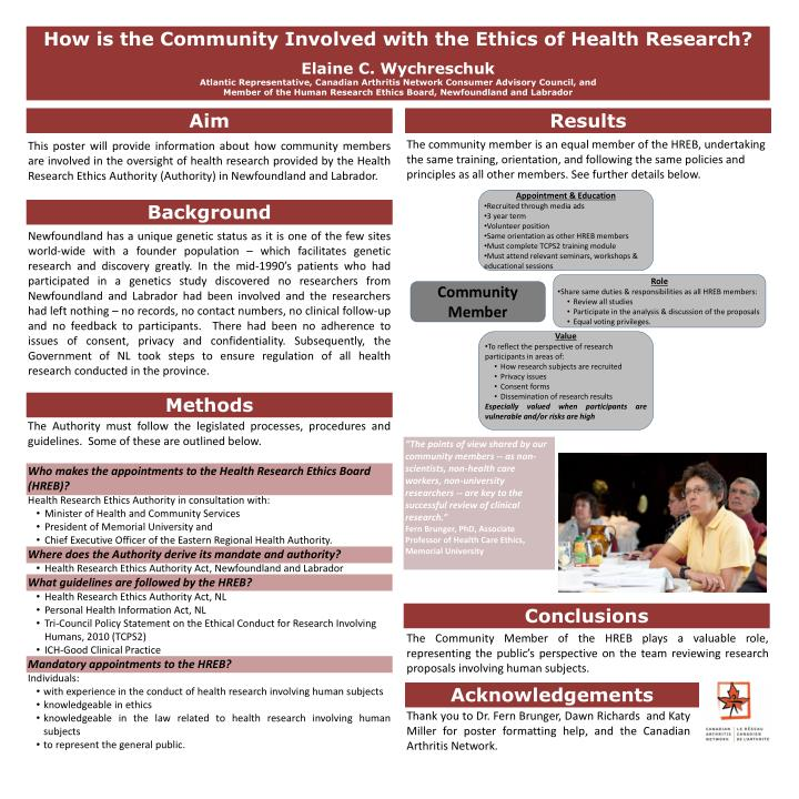 How is the Community Involved with the Ethics of Health Research?