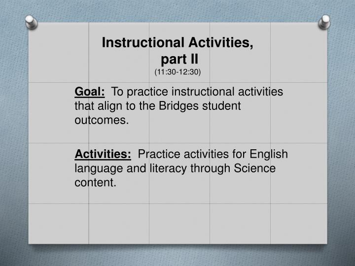 Instructional Activities,