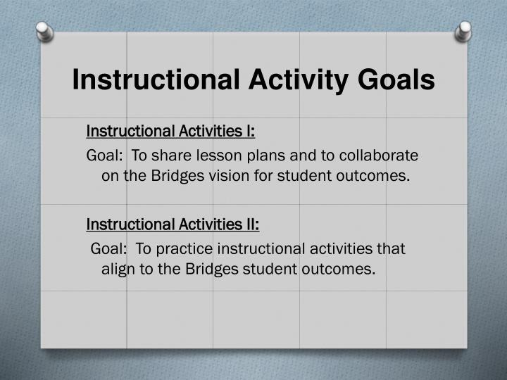 Instructional Activity Goals