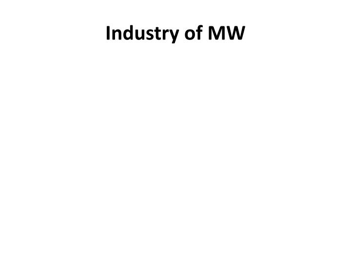 Industry of MW