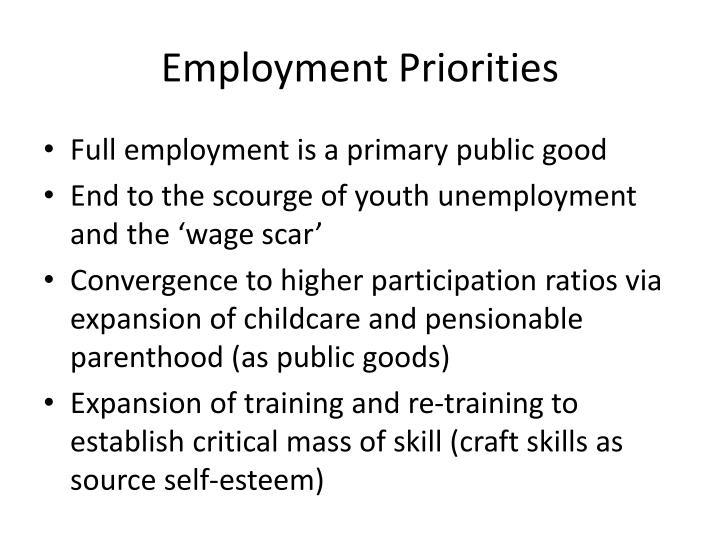 Employment Priorities