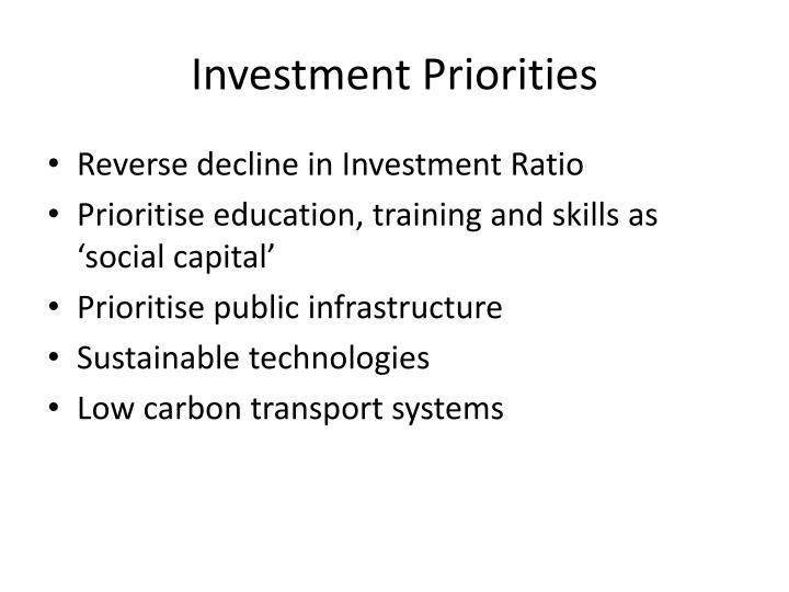 Investment Priorities