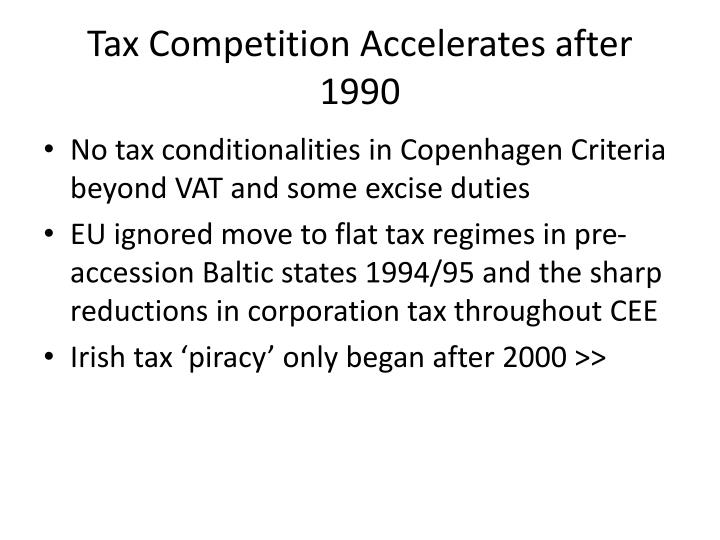 Tax Competition Accelerates after 1990