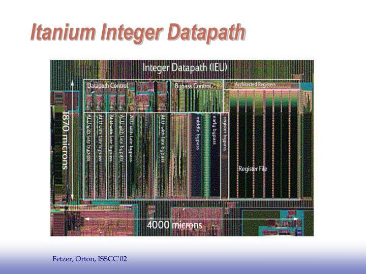 Itanium Integer Datapath