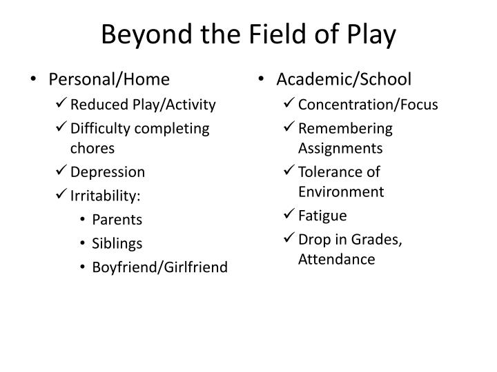 Beyond the Field of Play