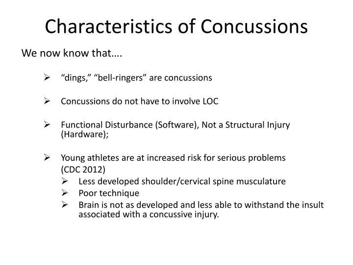 Characteristics of Concussions
