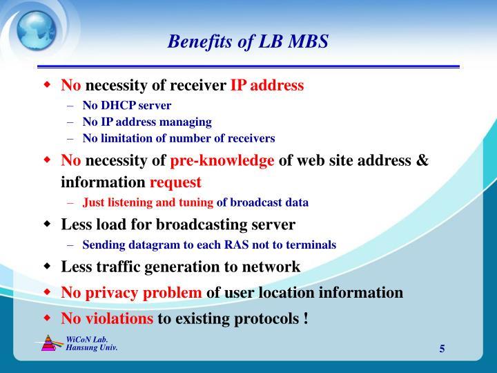 Benefits of LB MBS