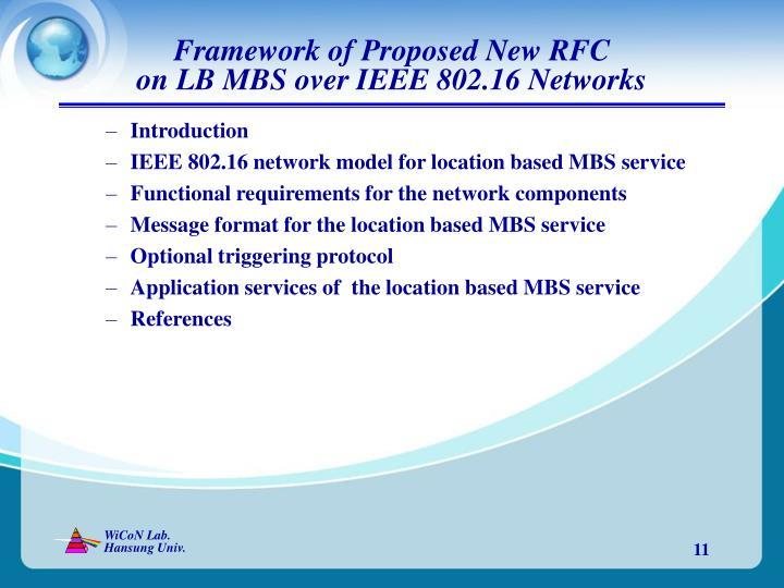 Framework of Proposed New RFC