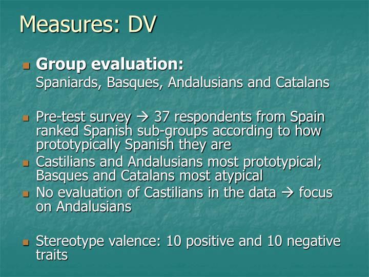 Measures: DV