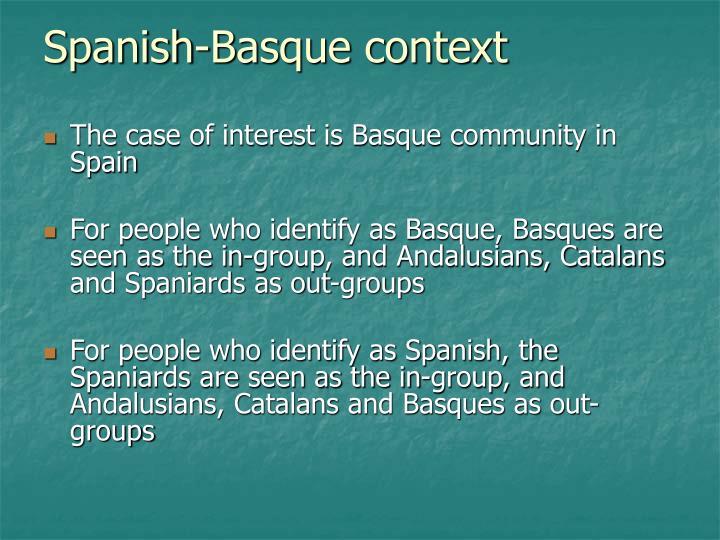 Spanish-Basque context