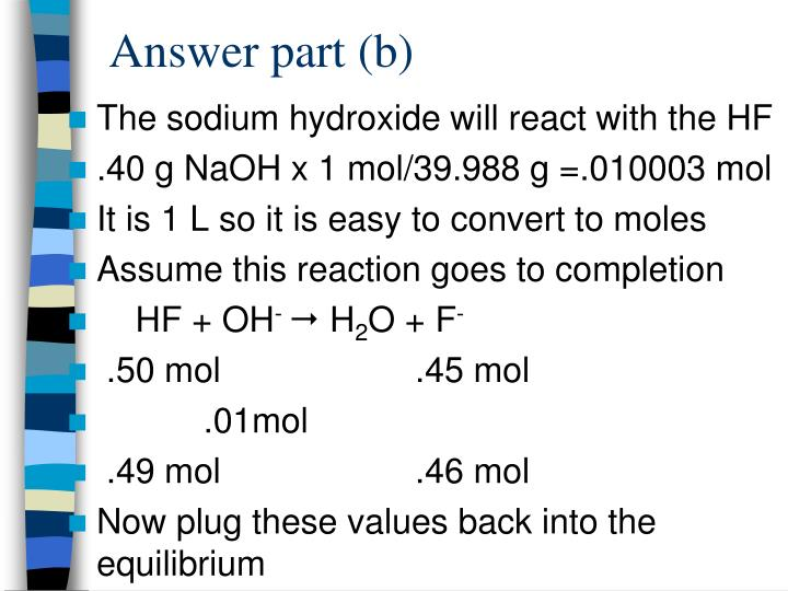 Answer part (b)