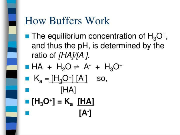 How Buffers