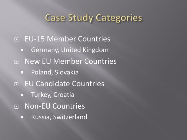 Case study categories