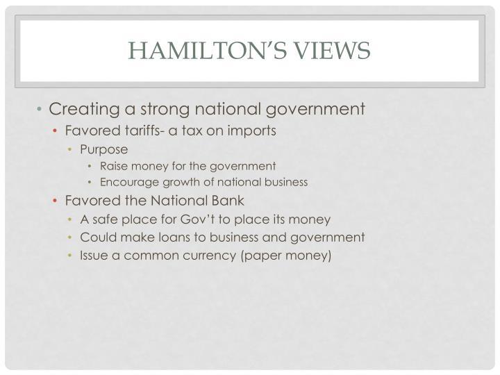 Hamilton's Views