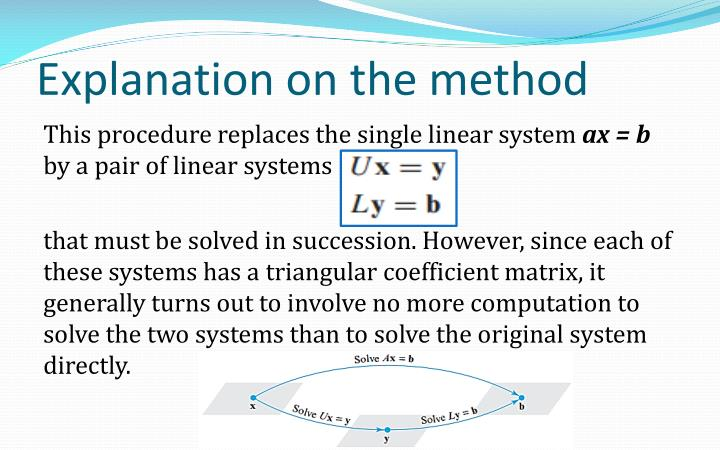 Explanation on the method