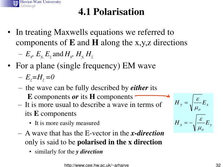 4.1 Polarisation