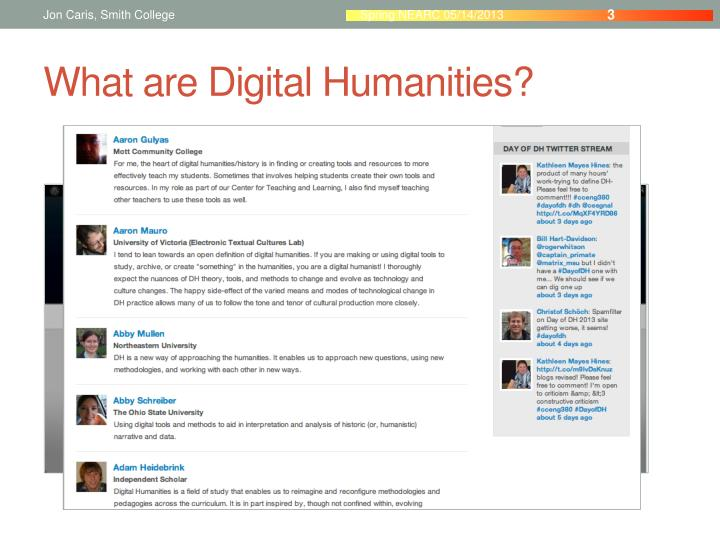 What are digital humanities