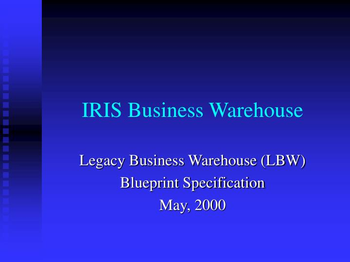 IRIS Business Warehouse