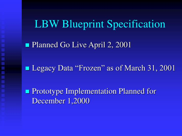 Lbw blueprint specification1
