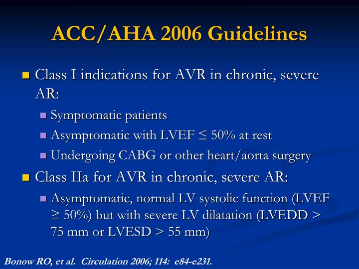 ACC/AHA 2006 Guidelines