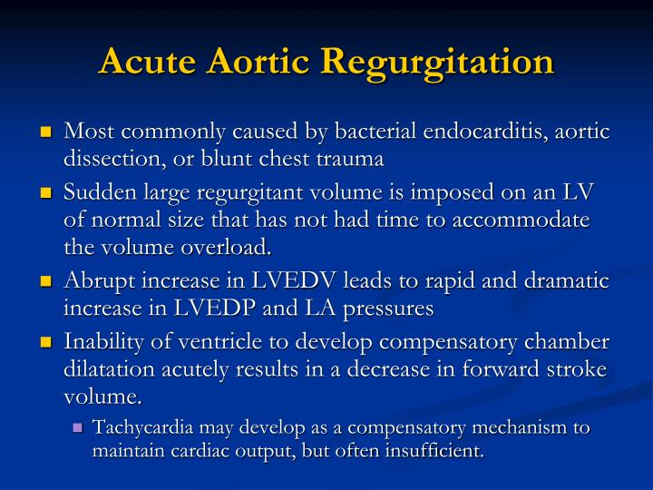 Acute Aortic Regurgitation