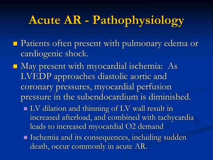 Acute AR - Pathophysiology