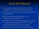 aortic flow reversal