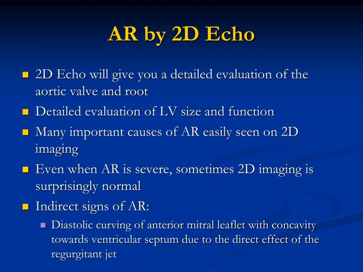 AR by 2D Echo