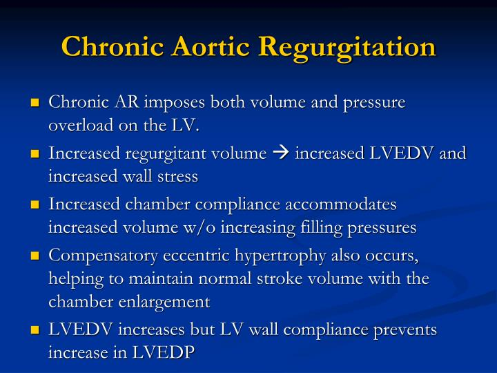 Chronic Aortic Regurgitation