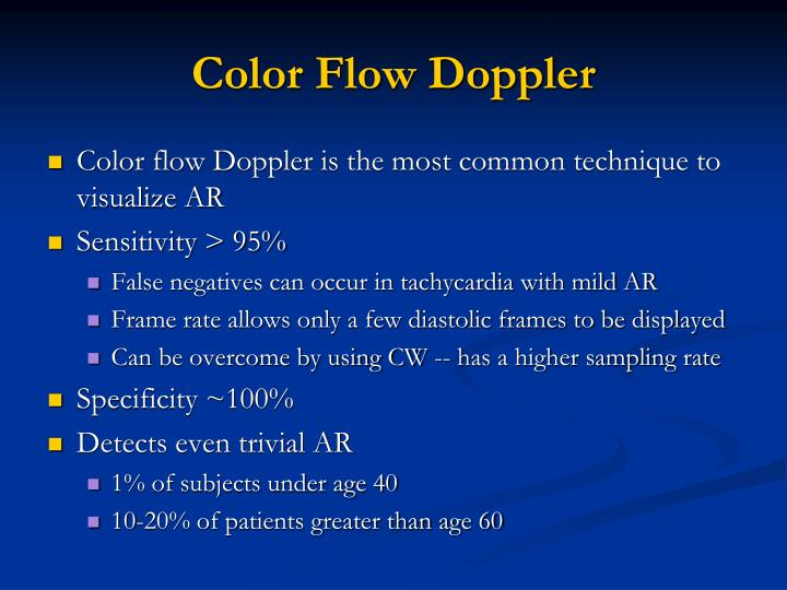 Color Flow Doppler