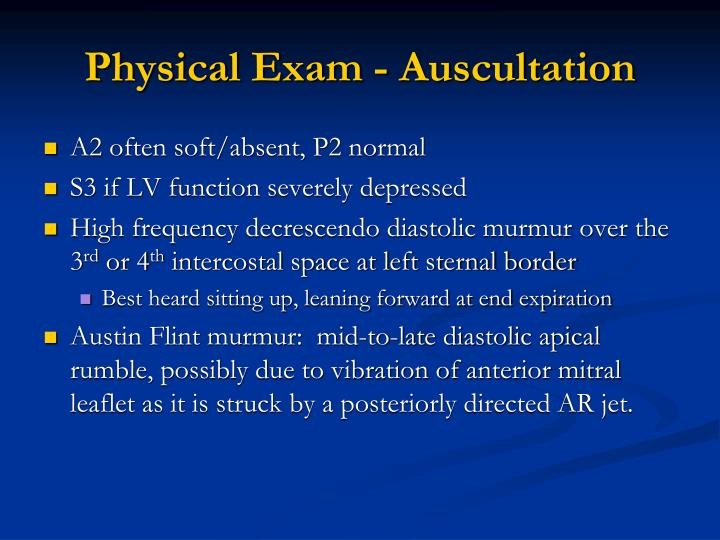 Physical Exam - Auscultation