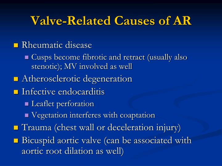 Valve-Related Causes of AR