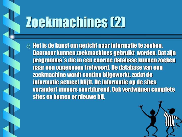 Zoekmachines (2)