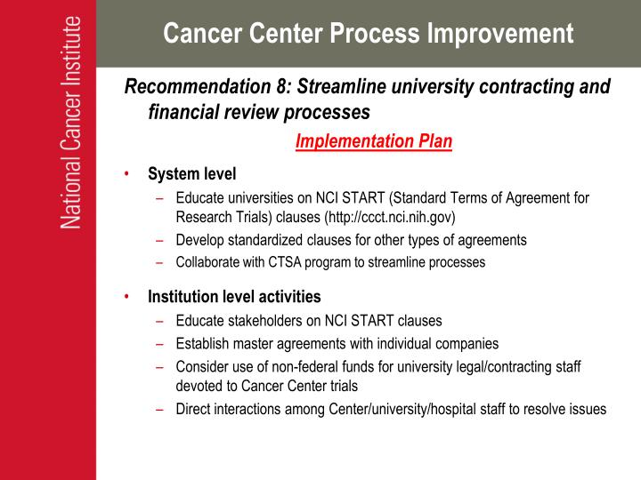 Cancer Center Process Improvement
