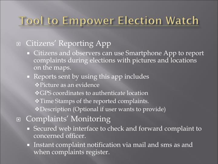 Citizens' Reporting App
