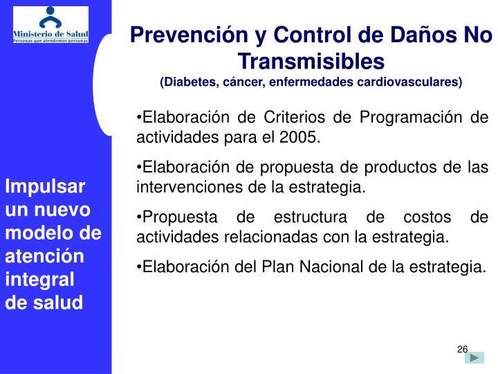 Prevencin y Control de Daos No Transmisibles