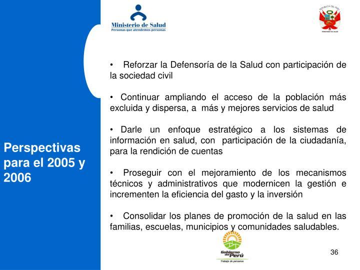 Reforzar la Defensora de la Salud con participacin de la sociedad civil