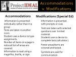 accommodations v modifications