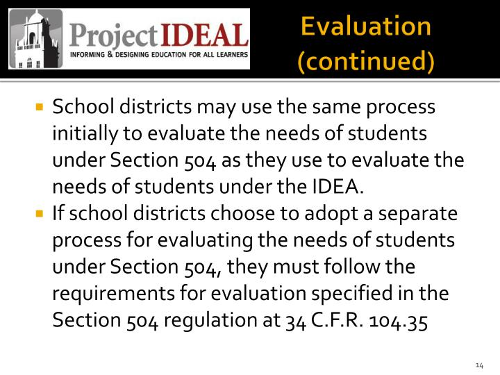 Evaluation (