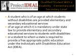 qualified student with a disability elementary and secondary level