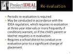 re evaluation