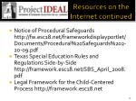 resources on the internet continued