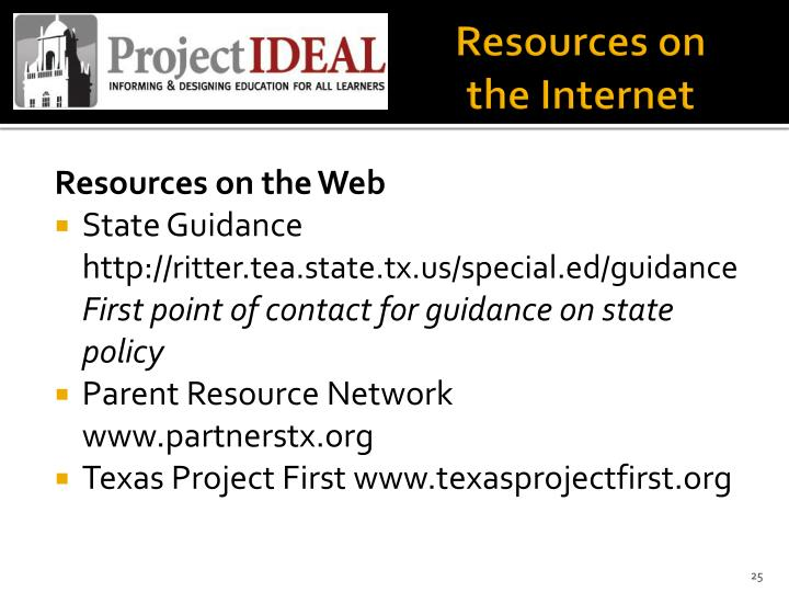 Resources on