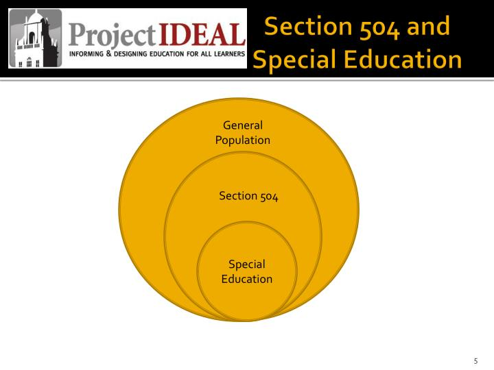 Section 504 and Special Education