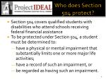 who does section 504 protect