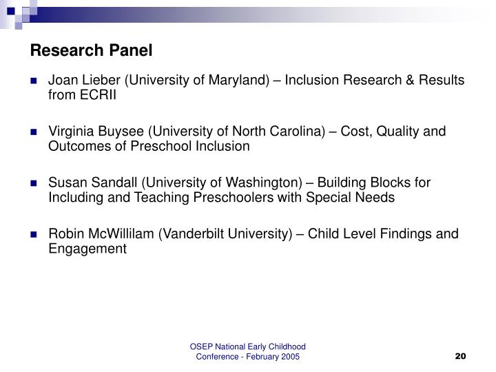 Research Panel
